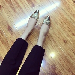 Giày búp bê nơ đinh xi nhủ