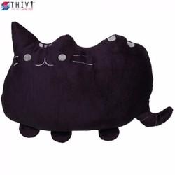 Gối Tựa Lưng Tạo Hình Chú Mèo 03 - Nâu Tím