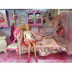 Búp bê barbie giường ngủ size lớn