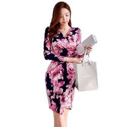 Đầm hoa body phong cách Hàn quốc