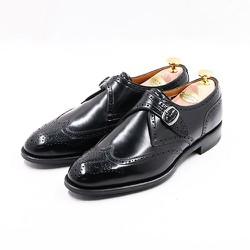 GIÀY TÂY  WINGTIP SINGLE MONK STRAP Black Leather Sole