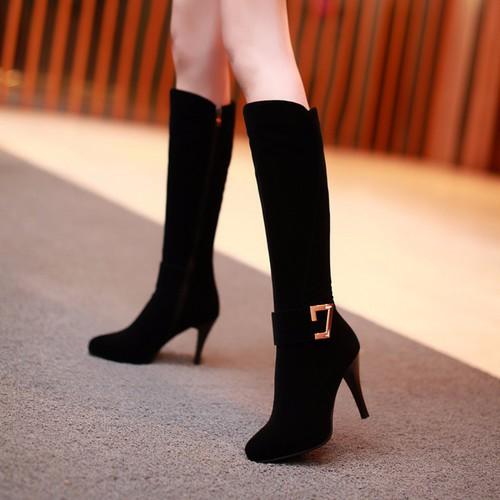 Giày boot nhung nữ cổ cao gót nhọn 10cm, giày bốt nữ màu đen khóa kéo tiện dụng, giày boot mùa đông lót vải ấm chân cổ cao đến gối, giày boot nữ ulzzang cá tính ĐEN B087 - 10481418 , 7568508 , 15_7568508 , 600000 , Giay-boot-nhung-nu-co-cao-got-nhon-10cm-giay-bot-nu-mau-den-khoa-keo-tien-dung-giay-boot-mua-dong-lot-vai-am-chan-co-cao-den-goi-giay-boot-nu-ulzzang-ca-tinh-DEN-B087-15_7568508 , sendo.vn , Giày boot nhung