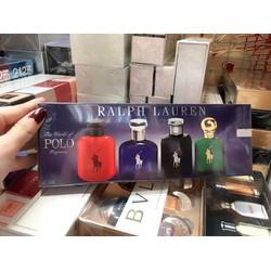 BILL MỸ- SET 4 CHAI NƯỚC HOA NAM POLO CỦA Ralph Lauren 15ML