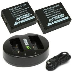 Bộ 2 pin 1 sạc Wasabi NP-W126