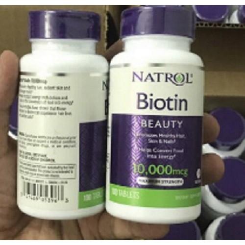 Natrol Biotin 10000 mcg Viên uống hỗ trợ mọc tóc 100 viên - MẪU MỚI - 5097122 , 7574667 , 15_7574667 , 170000 , Natrol-Biotin-10000-mcg-Vien-uong-ho-tro-moc-toc-100-vien-MAU-MOI-15_7574667 , sendo.vn , Natrol Biotin 10000 mcg Viên uống hỗ trợ mọc tóc 100 viên - MẪU MỚI