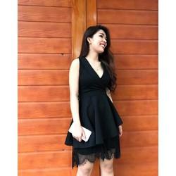 Đầm vest phối chân ren