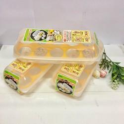 Khay đựng trứng 10 ngăn có nắp đậy NHẬT