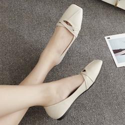 giày búp bê màu trắng xinh