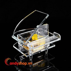 Hộp nhạc Piano pha lê trong suốt - music box candyshop88.vn