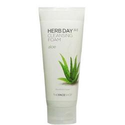 Sữa rửa mặt The Face Shop Herb Day 365 Cleansing Foam - Lô hội