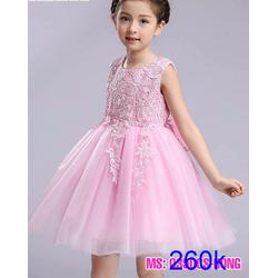 Đầm công chúa ren hoa cao cấp