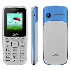 Điện thoại ZIP1.8-2 New - 2 SIM - trắng xanh