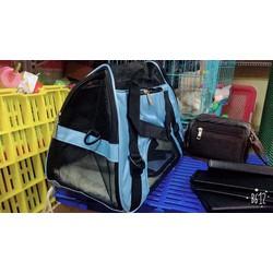Túi vận chuyển thú cứng nặng 3kg size M màu hồng, xanh nước biển