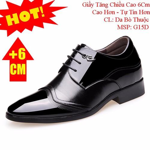 Giày Tăng Chiều Cao 6Cm Da Bò - Hàng Đẹp Nhập Khẩu