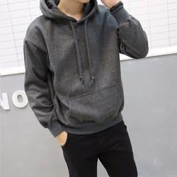 áo Khoác hoodie nam trơn[xám chì]