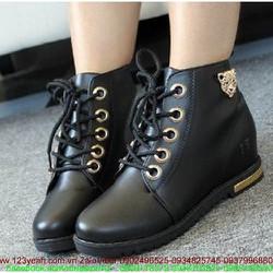 Giày da nữ oxford thu đông thắt dây tự tin sành điệu