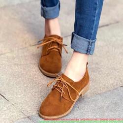 Giày da nhung thu đông cho mùa noel ấm áp