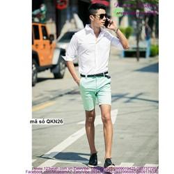 Quần short kaki nam phong cách Hàn Quốc năng động