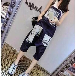 quần jeans yếm đáy thụng Mã: QL248