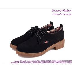 Giày oxford nữ da lộn phong cách tự tin năng động