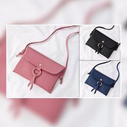 Túi xách nữ mini khóa tròn dây nơ
