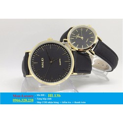 Đồng hồ đôi dây da chống nước