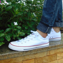 giầy converse trắng thấp cổ nam nữ