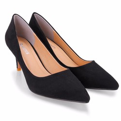 Giày cao gót trơn da lộn đơn giản sang trọng 7P