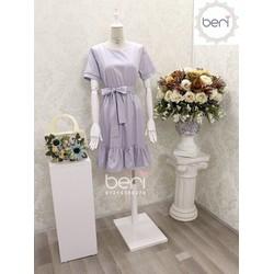 Đầm xòe thắt nơ BERI xanh