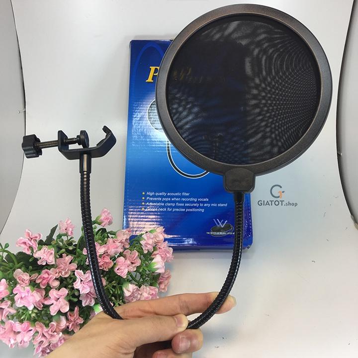 Bộ míc thu âm BM999 Kèm sound K10,dây livestream,Kẹp để bàn,màng lọc 19