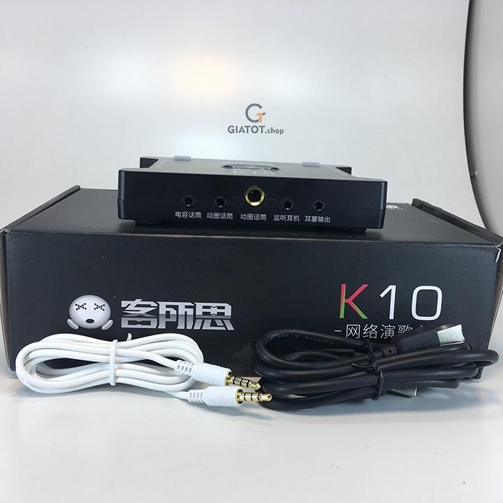 Bộ míc thu âm BM999 Kèm sound K10,dây livestream,Kẹp để bàn,màng lọc 11