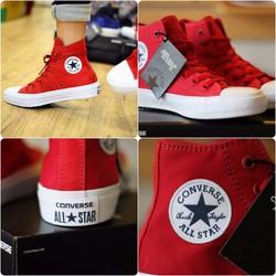 giầy converse chuck 2 đỏ cao nam nữ