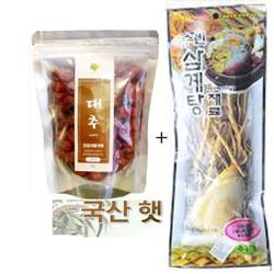Combo 2 Thảo dược Táo đỏ 200g và Rễ Hồng Sâm 70g Hàn Quốc sấy khô
