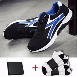 Giày thể thao nam+1 đôi ví da+ 2 đôi tất 8302DE TINTO