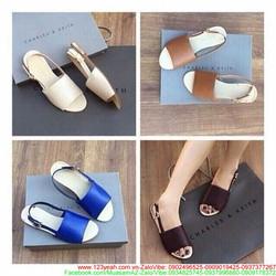 Giày sandal nữ hở mũi quai hậu phong cách sành điệu