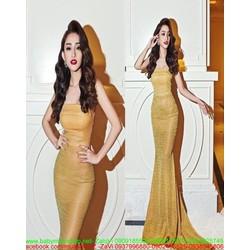 Đầm dạ hội cúp ngực thiết kế đuôi cá sành điệu vải ánh kim sang trọng