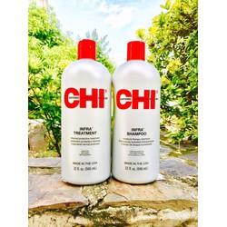 Cặp gội xả CHI INFRA 946ml dành riêng cho tóc khô và tóc hư tổn
