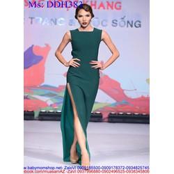 Đầm dạ hội sát nách kiểu xẻ đùi quyến rũ DDH383