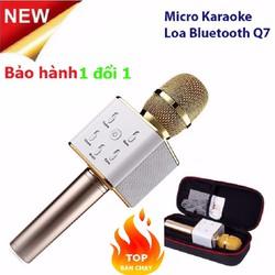 Mic-Micro kèm Loa hát Karaoke 3 trong 1 Tuxun Q7 cầm tay bluetooth
