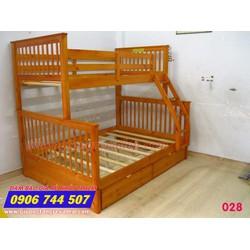 Giường 2 tầng trẻ em giá rẻ 028 Vàng Gỗ