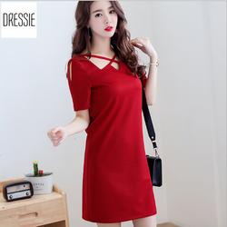 [HÌNH THẬT] Váy Đầm Suông Đẹp Thời Trang Công Sở Dạo Phố Dự Tiệc - Đỏ