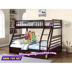 Giường 2 tầng trẻ em giá rẻ 029 Nâu Đen
