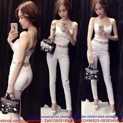 Áo 2 dây xinh như ngọc trinh màu trắng tinh khôi dễ thương