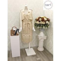 Set đầm ren kèm áo khoác emmangto Hàn Quốc BERI k