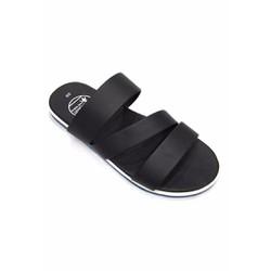 Dép sandal nam màu đen 3 quai ngang thời trang