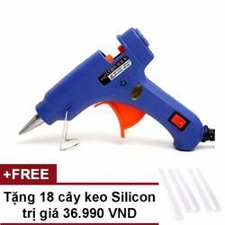 Súng bắn keo Nến silicon màu Xanh + Tặng 18 cây keo Silicon nến