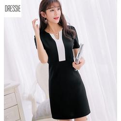 [HÌNH THẬT] Mẫu Váy Đầm Suông Đầm Công Sở Đẹp Thời Trang DRESSIE - Đen