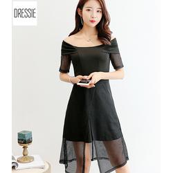 [HÌNH THẬT] Váy Đầm Dự Tiệc Đầm Đi Đám Cưới Cao Cấp DRESSIE- Đen Trắng