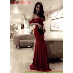 Đầm maxi dạ hội bẹt vai sành điệu và thời trang