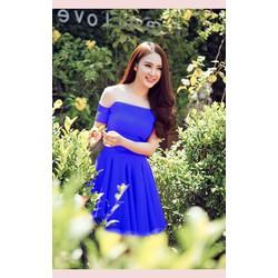 Đầm xòe xanh Phương Trinh 972